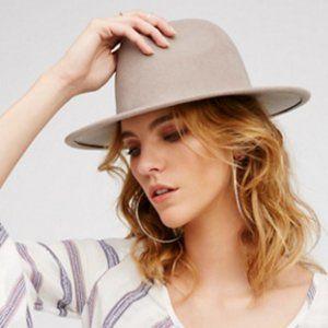 NWOT Free People Clean Slate Felt Hat in Mink